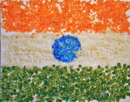 Tricolor Indian Flag- Kid World Citizen