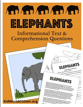Elephant Reading Comprehension Questions- Kid World Citizen