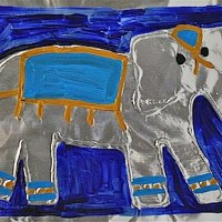 Try this Gorgeous Asian Elephant Craft