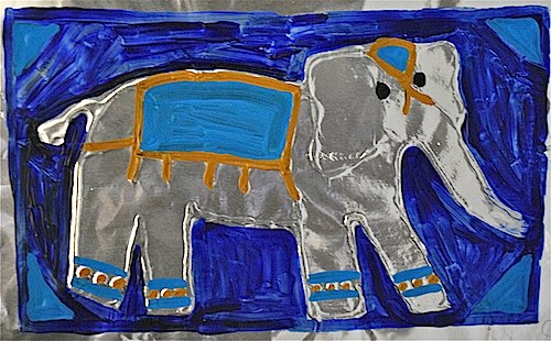 Asian Elephant Art Project- Kid World Citizen