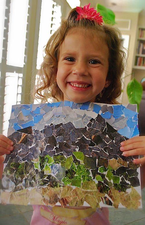 Mt Kilimanjaro Collage Craft- Kid World Citizen