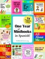 Spanish Bilingual Minibooks for kids teach spanish kid world citizen