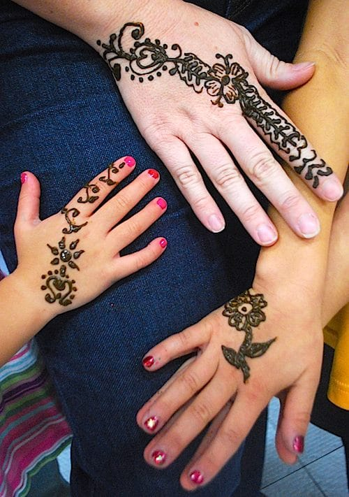 beautiful henna mom and kids kid world citizen