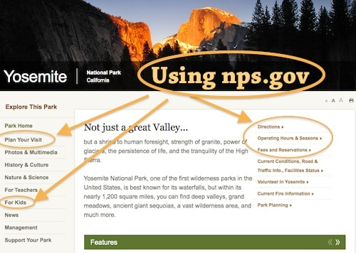 Using NPS.gov web site- Kid World Citizen