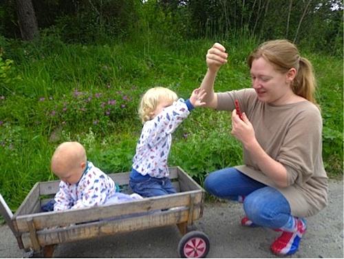 Eating Berries Sweden- Kid World Citizen