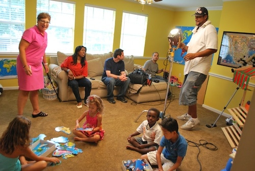 Filming Moms Homeroom Geography Lesson- Kid World Citizen
