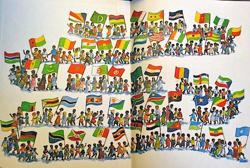 African Flags Book- Kid World Citizen