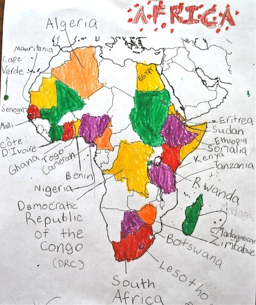 Map Of Africa Ks1.Map The Book Africa Is Not A Country