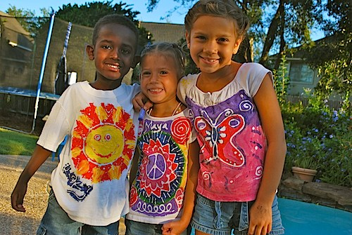 Kids Craft Making Batik Tshirts- Kid World Citizen