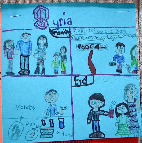 Diversity Quilt Squares Syria- Kid World Citizen