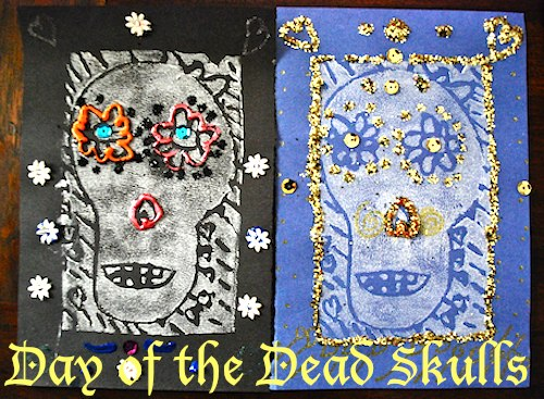 Fancy skull crafts for day of the dead kid world citizen for Day of the dead crafts for preschoolers