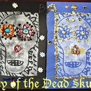 Fancy Skull Crafts for Day of the Dead