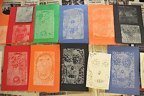 Skeleton Prints Day of the Dead- Kid World Citizen