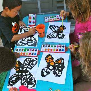 Monarch Butterfly Art for Kids