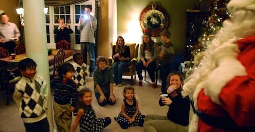 Santa Visits Christmas Kids- Kid World Citizen