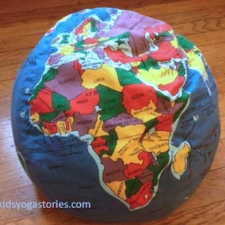 Africa map yoga for kids- Kid World Citizen