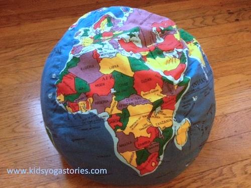 Africa map family yoga for kids- Kid World Citizen