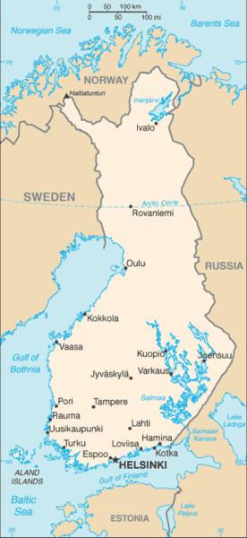 Finland CIA Map- Kid World Citizen
