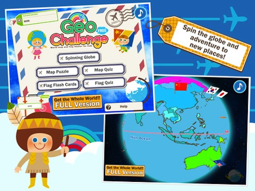 Map Games for Kids Geo1- Kid World Citizen