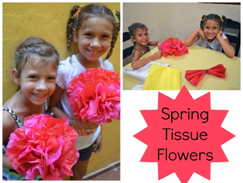 Spring Tissue Flowers- Kid World Citizen
