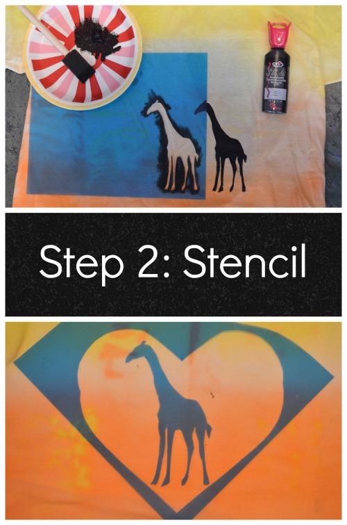 Stencil Tshirts African Sunset Craft- Kid World Citizen