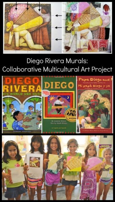 Diego Rivera for Kids Mural Collaborative Project- Kid World Citizen