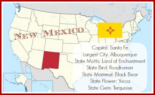 New Mexico Map- Kid WOrld Citizen