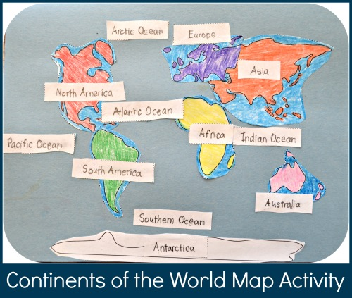 Continents Of The World Map Activity: Geography For Kids