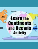 Learn the Continents of the World Oceans Kid World Citizen Printable