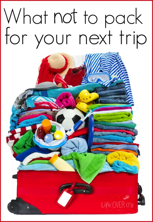 What not to pack Travel with Kids- Kid World Citizen