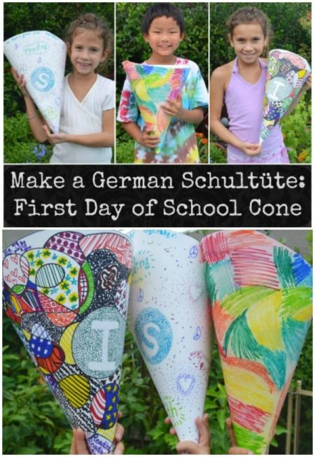 German Schultuete School Cone- Kid World Citizen