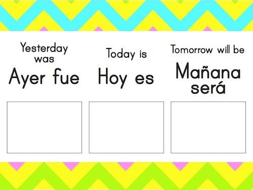 Bilingual Classroom Labels- Kid World Citizen
