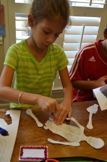 Making Skeleton Crafts- Kid World Citizen