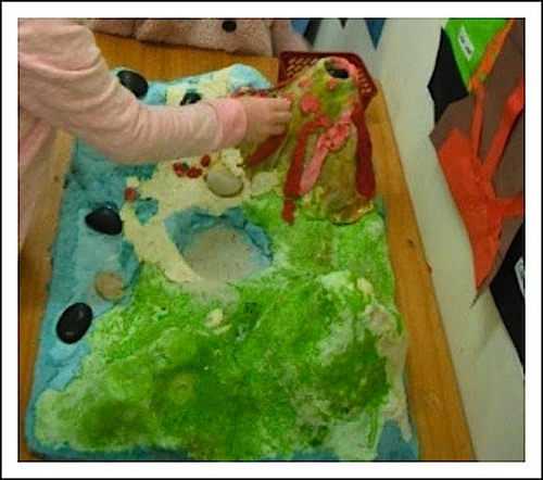 how to make a volcano without using clay