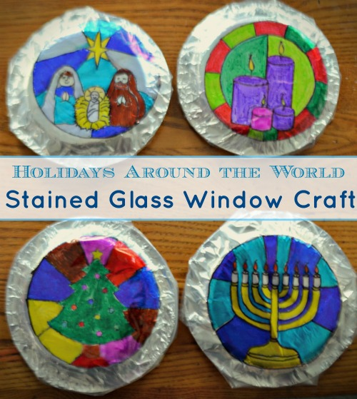 Holidays Around The World Craft: Gorgeous Stained Glass
