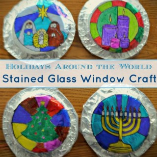 Holidays Around the World Craft: Gorgeous Stained Glass Windows