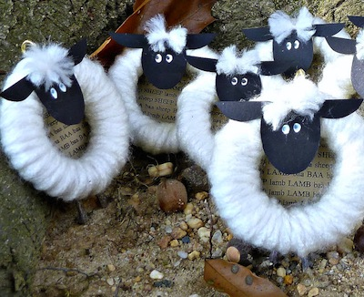 Curtain Ring Sheep Craft- Kid World Citizen