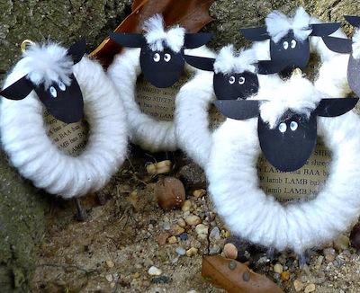 Curtain Ring Sheep Craft- Kid World Citizen