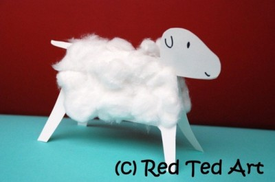 Red Ted Sheep Craft- Kid World Citizen