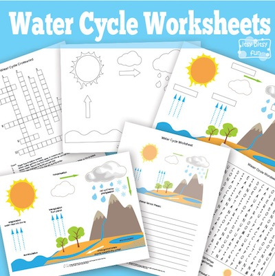 Water Cycle Worksheets Kids- Kid World CItizen