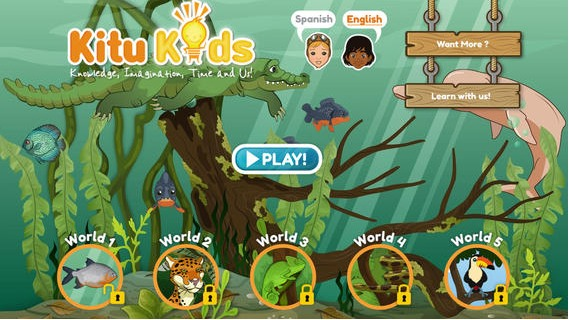 Amazon Rainforest Discovery Spanish App- Kid World Citizen
