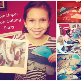 Shoe-Cutting Party for Sole Hope: Helping Kids in Uganda Live Healthier Lives
