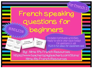 French Giveaway Resources for Teachers- Kid World Citizen