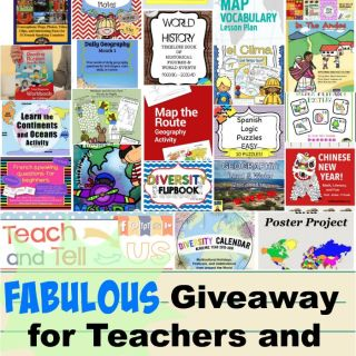 HUGE Back-to-School Giveaway: Geography, Languages, Multicultural Activities