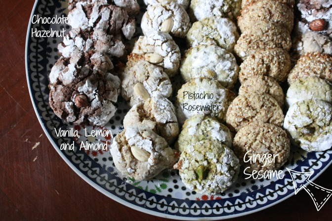 Ginger Sesame Ghriba Moroccan Snacks Cookies- Kid World Citizen