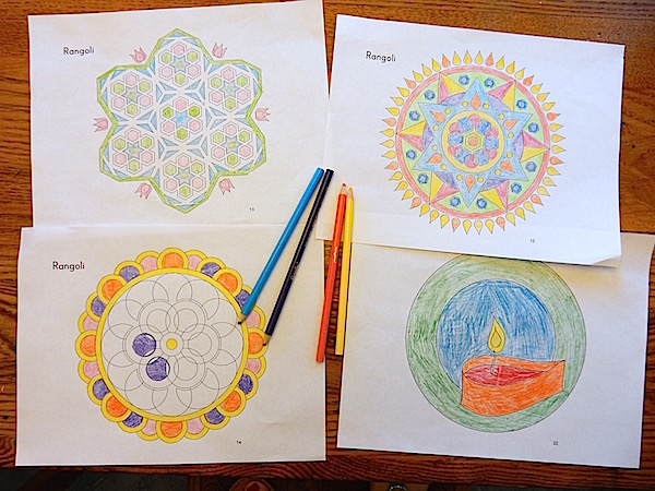 Kids Story of Diwali Rangoli Coloring Sheets- Kid World Citizen