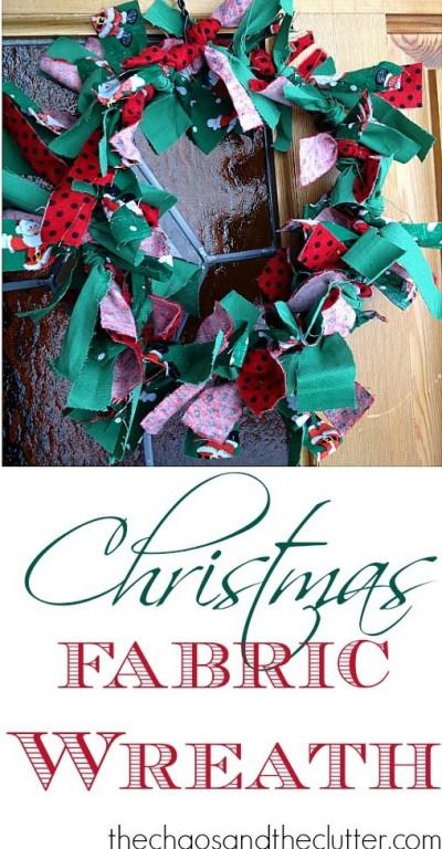 Fabric Christmas Wreath for Kids- Kid World Citizen