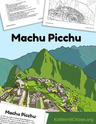 Machu Picchu Reading Cover- Kid World Citizen