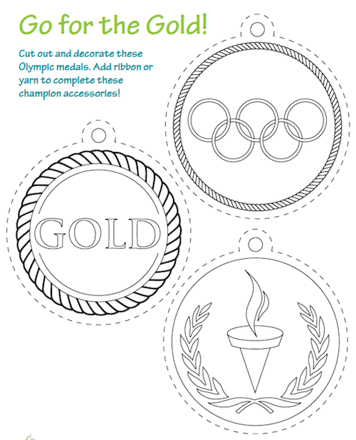 Olympics Activities Coloring Sheets- Kid World Citizen