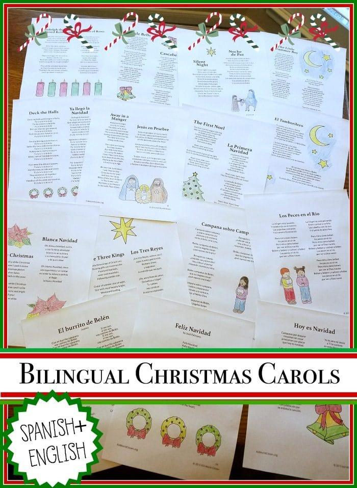 Christmas Carols in Spanish- Kid World Citizen